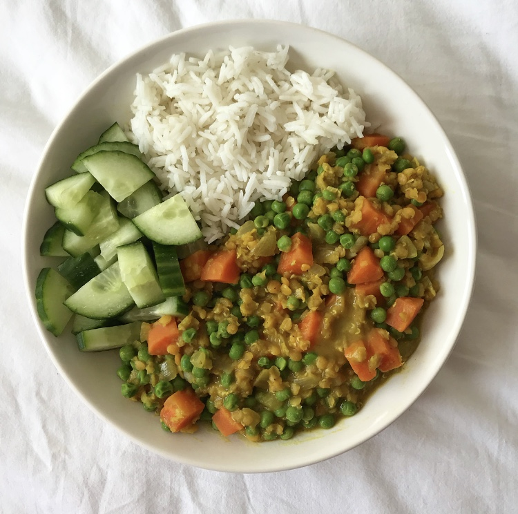 Easy veggie lentil curry